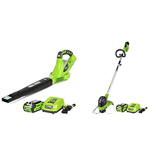 Best Review Of Greenworks 40V 150 MPH Variable Speed Cordless Blower, 2.0 AH Battery Included 24252 ...
