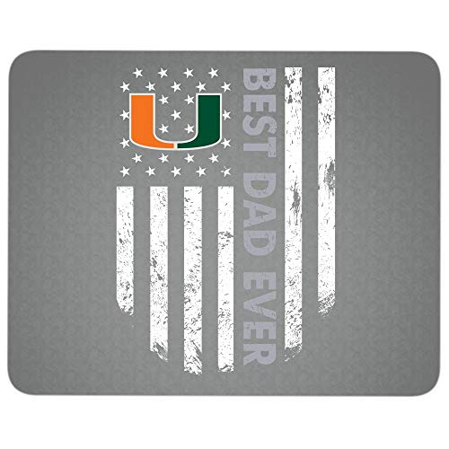 Best Dad Ever Premium-Textured Mouse pad, Miami Hurricanes Logo Mouse Pad for Home, Office, Game, Computer, Laptop (Mouse Pad - Dark Gray)