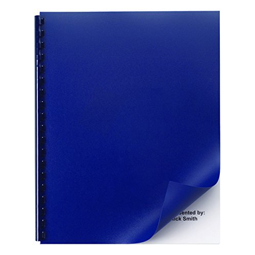 GBC Opaque Plastic Presentation Binding System Covers, 11 x 8 1/2, Navy, 50/Pack -GBC2514494