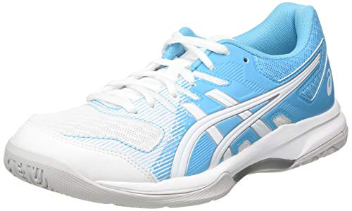 ASICS Womens Gel-Rocket 9 Volleyball Shoe, White/Aquarium,40 EU