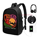 Quicksilver Messenger Service Backpack 17 Inch with USB Interface,Laptop Backpacks,Business Travel Bag