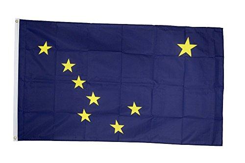 Flaggenfritze Fahne/Flagge USA Alaska + gratis Sticker
