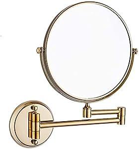 WJSWD Relación Calidad-Precio Montado en la Pared de Maquillaje Espejo con Aumento de 3X, 6/8 Pulgadas de Doble Cara Vanidad Espejo de Aumento de baño, Negro, 8 Pulgadas comprado para mi Hija