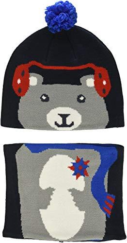 Columbia Set aus Beanie und Gamasche für Kinder, Snow More Beanie and Gaiter Set Toddler, Acryl, Blau (Collegiate Navy Bear), Einheitsgröße, 1811541