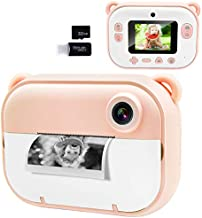 """Joytrip Kids Instant Print Camera, Kids Camera with 2.4"""" HD Large Screen LCD, Zero Ink Digital Camera with Thermal PrintingPaper and CartoonStickers, 3-14 Years Old Children Toy Learning Camera"""