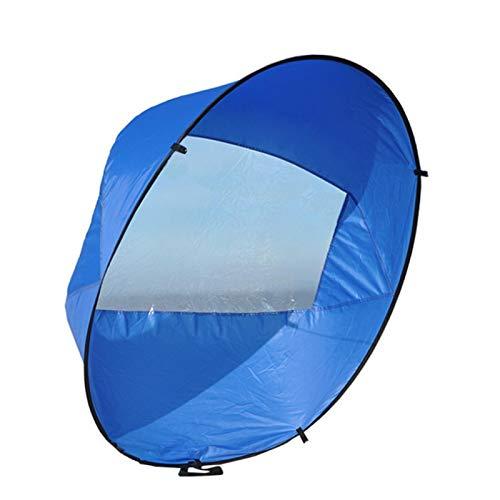 MOVKZACV Vela de kayak, 106,7 cm, tabla de remo con ventana transparente para kayak, barco, velero, canoa, estilo plegable, fácil de instalar y se despliega rápidamente