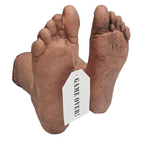 Cultica Crime Scene Leichenhalle 1 Paar Leichen Füße Toe Tag Zehen Zettel Halloween