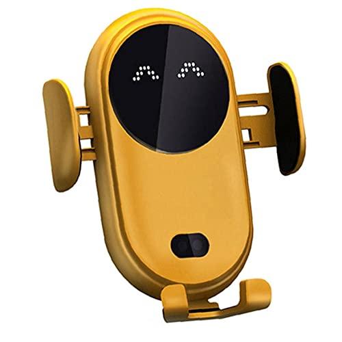 Tuimiyisou Cargador de Coche de teléfono inalámbrico infrarrojo de la inducción Soporte de Carga rápida Inteligente con el Coche Antideslizante telescópica Clip