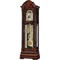 Howard Miller Winterhalder II Floor Clock 611-188 – Windsor Cherry Grandfather Home Decor with Illuminated Case & Cable-Driven, Triple-Chime Movement