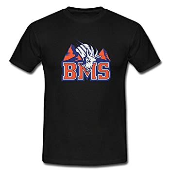 Yolo custom BMS Blue Mountain State The Goats Men s casual Cotton Tee Muscle Tee Mens Gym Tee Crew L Black