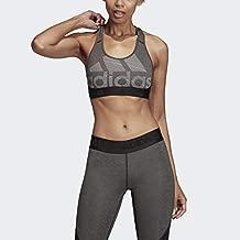 adidas Women's Don't Rest Alphaskin Badge of Sport Bra, Black/Heather/White, X-Small