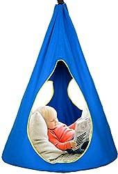 SHINYEVER Kinder Hängesessel Hängeschaukel Schaukel Indoor Hängesitz bis 150 kg belastbar Aufhängung, In- & Outdoor