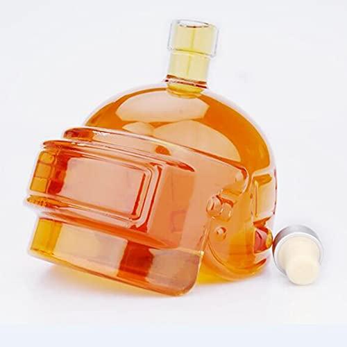 NDHENG Juego de decantador de Whisky Art Deco de Primera Calidad, Frasco de Cadera para Casco de 600 ml, Frasco Inflable de Cristal Creativo, para Licor, escocés, borbón, Brandy, Vodka