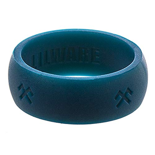 Lilware Silicone Wedding Ring Silikon Ehering. Band für aktive Menschen mit Jumis-Symbol. Größe 11. Blau