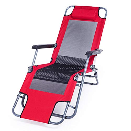 Prakal Reclining Camping Chair, Portable Zero Gravity Chair Outdoor Folding Lounge Chairs, Patio Outdoor Pool Beach Lawn Recliner with Pillow