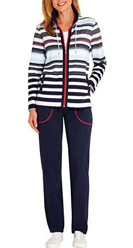 hajo - Damen Freizeitanzug/Hausanzug Marine Weiss Klima-Komfort Qualität* 20