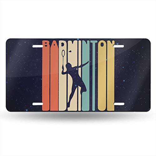 mchmcgm Retro Style Badminton Player Nummernschilder Front Plate 6