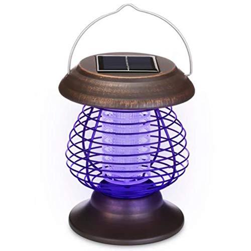 Lampe Solaire Anti-Moustique 2 en 1, Lampe Anti-Moustique USB, Lampe de Camping, Lampe Anti-Moustique UV Portable, adaptée pour intérieur et extérieur