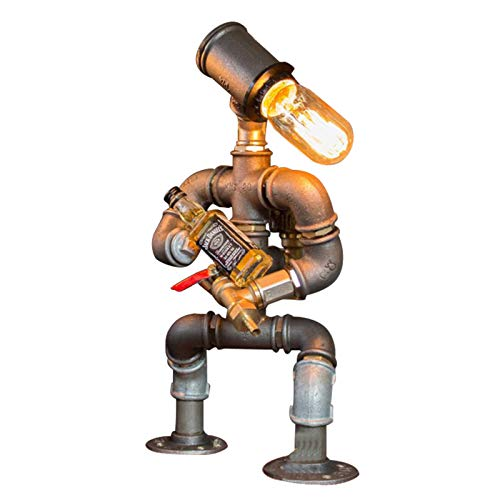 QKFON Weinspender im industriellen Stil, Steampunk-Industrie-Lampe, Weinspender, Wasserpfeife, Roboter-Form, Weinspender für Zuhause, Bar, Kneipenzubehör