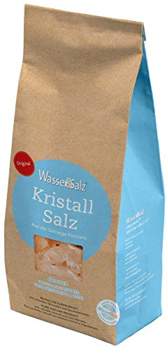 Kristallsalz Brocken 1000 g Original Wasser & Salz AG aus der 'salt range Pakistan'