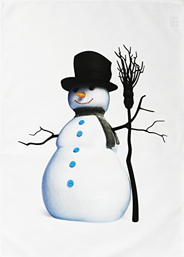 Half a Donkey The Snowman - Large Christmas Tea Towel