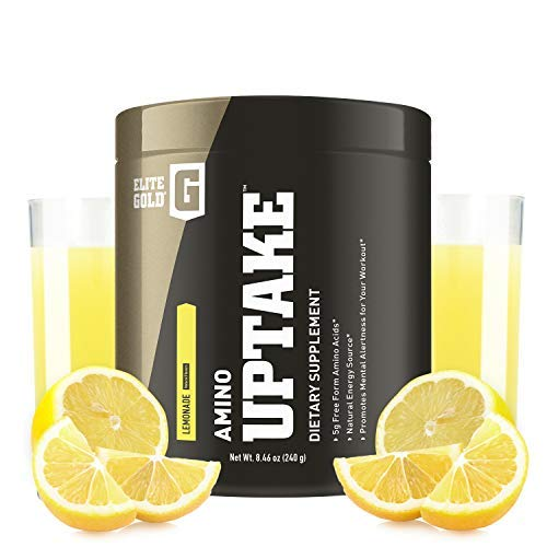 Complete Nutrition Elite Gold Amino Uptake, Lemonade, Amino Acid Supplement, Increase Energy, Support Muscle Recovery, Beta Alanine, L Citrulline, 9.5 oz Tub (30 Servings)