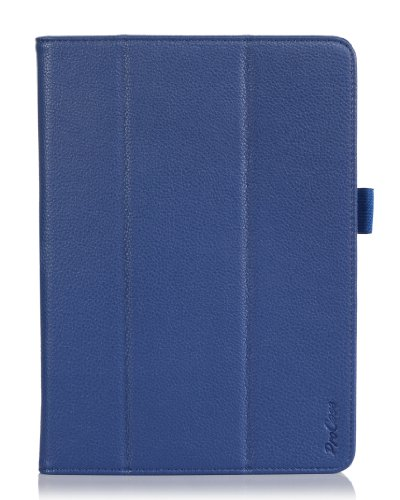 ProCase Galaxy Tab PRO 10.1 Tablet Case - Tri-Fold Smart Cover Stand Case for Galaxy TabPRO 10.1 inch SM-T520,T525 (Navy, Dark Blue)