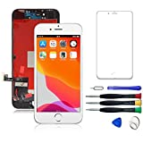 WYNT 3D Touch Screen Replacement for iPhone 8 Plus 5.5 Inches LCD Digitizer Display Assembly with Digitizer Frame Assembly with Full Free Repair Tools Kit White