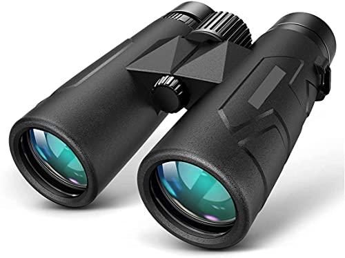 Telescopio Adulto, prismáticos 10x42 para Adultos niños, prismáticos Resistentes al Agua de Vida compactos con la Noche en Condiciones de Poca luz Prisma BAK4 óptica FMC prismáticos telescopio para