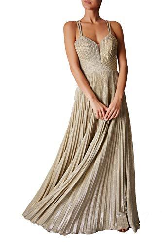 Mascara goud MC166137 geplooide mousserende jurk