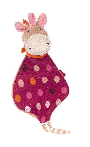 Sigikid Mädchen und Jungen, Mini-Schnuffeltuch Hoppe Dot, Babyspielzeug, empfohlen ab 0 Monaten, Lila/beige, 39253