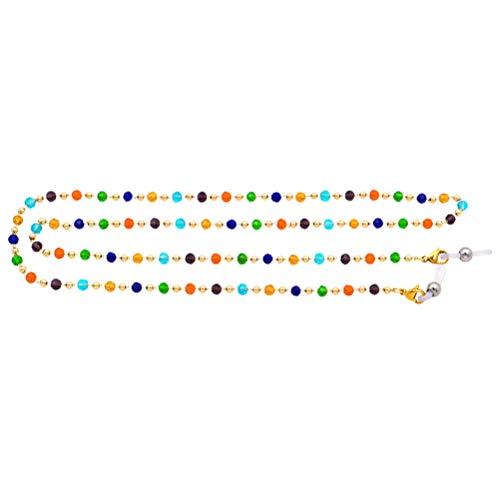 Pulsera de gafas de sol de Soimiss, de cristal, multicolor, con colgante y cadena antideslizante, para colgar gafas de sol