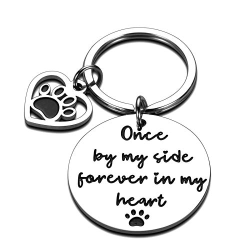 Dog Memorial Gifts Keychain for Dogs Cat Loss of Pet Remembrance Gift for Pet Lover Owner Christmas Bereavement Sympathy Gifts Pawprints Left by You Pet Memorial Gift for Family Friend Daughter Wife