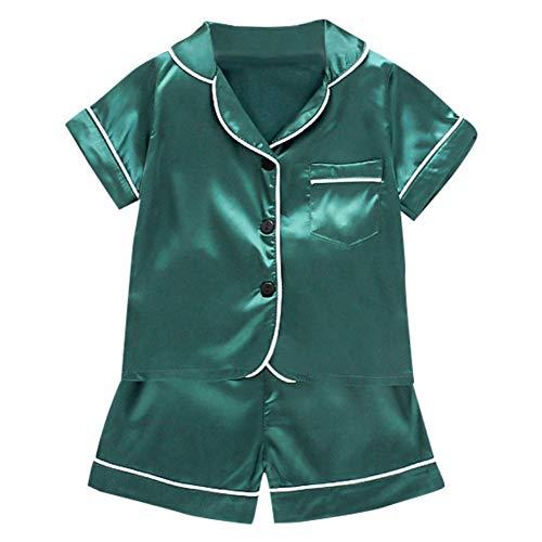 Gyratedream baby kinderoutfit, bedrukt, robuust, set blouse, korte mouwen, tops + shorts, pyjama, nachtkleding