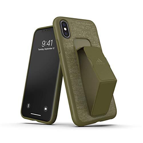 adidas iPhone X/XS Hülle, Anti-Fingerabdruck, Anti-Scratch Fein Tasche Schale Hardcase für iPhone X/XS - Raw Khaki