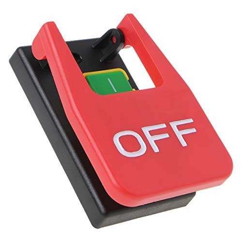 ZChun Elektromagnetischer Drucktastenschalter Paddelschalter Spannungsschutz Tischsägen