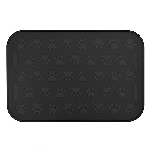 SmithBuilt 24' x 16' Large Dog Food Mat - Waterproof Non-Slip FDA-Grade Silicone Cat Pet Bowl...