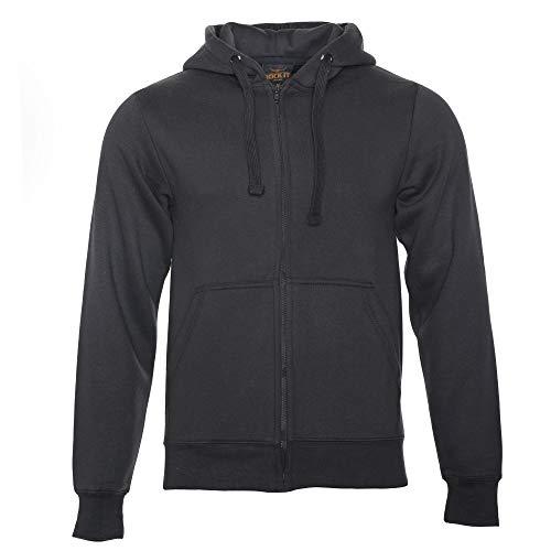 ROCK-IT Apparel® Herren Kapuzenjacke Zipper Hoodie Kapuzen Sweater Jacke Workerhoodie Pullover Hoody Größen XS-5XL - Farbe Schwarz 5X-Large
