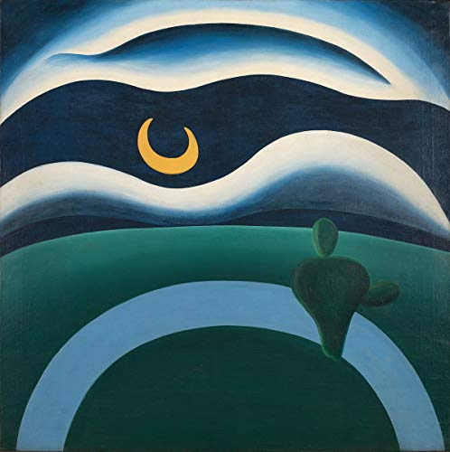 Berkin Arts Tarsila Do Amaral Giclee Print On Paper-Famous Paintings Fine Art Poster-Reproduction Wall Decor(The Moon) #XZZ