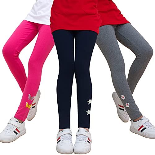 MEILONGER 3-Pack Girls Leggings Kids Baselayer Pants...