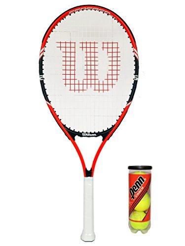 Wilson Federer 25 Tennisschläger, 1 Stk. + Head Tennisbälle, 3 Stk.