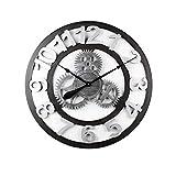 Reloj de Pared Reloj de pared de 70 cm, reloj de pared silencioso vintage silencioso de engranaje hueco de hierro forjado, reloj colgante de números romanos for decoración Moderno Decoración de la Sal
