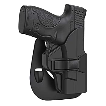 M&P Shield 9mm Holster OWB Paddle Holster fit 3.1  Barrel Smith & Wesson M&P Shield Plus 9mm/.40 M&P 9mm/.40 Shield M2.0  Adjustable Cant Gun Holster with Fast Release - Right Handed