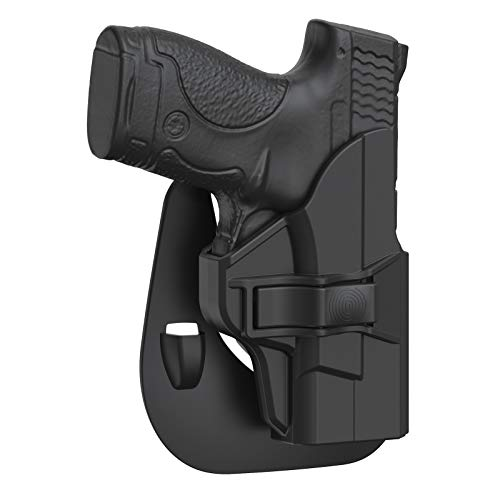 """M&P Shield 9mm Holster, OWB Paddle Holster fit 3.1"""" Barrel Smith & Wesson M&P Shield Plus 9mm/.40, M&P 9mm/.40 Shield(M2.0), Adjustable Cant Gun Holster with Fast Release - Right Handed"""