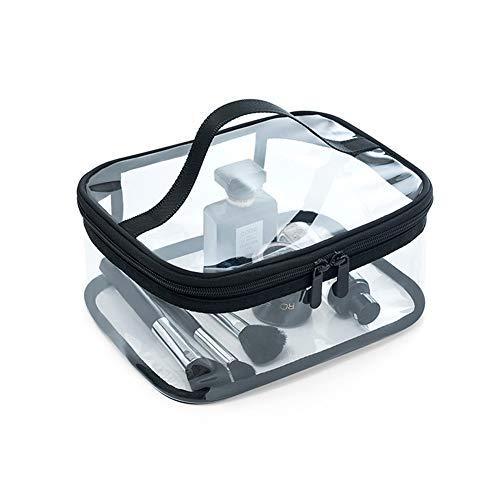 HaloVa Toiletry Bag, Large Cosmetic Bag, Waterproof Makeup Bag, Travel Storage Bag, Transparent Multipurpose Practical