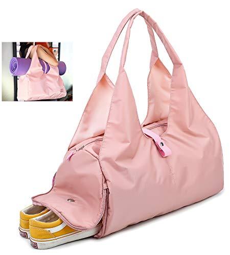 Charaland Yoga Mat Bag Gym Bag Pink