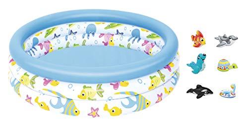 Babypool Planschbecken Pool 3 Ring 102 cm + gratis Intex Badetier