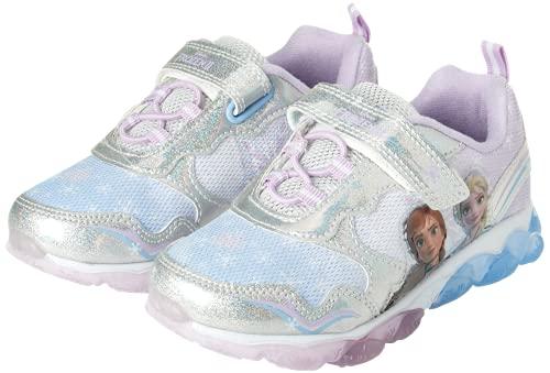 Disney Girls' Frozen Sneakers - Laceless Light-Up Running Shoes (Toddler/Little Girl), Size 10...