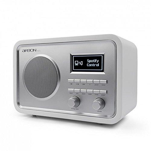 Argon Internet+DAB+UKW Radio iNET2+ Weiss/Silber