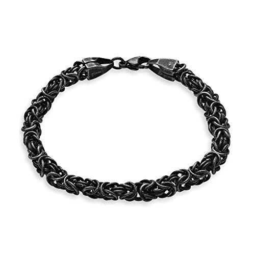 Xenox Eden Elements X3964 - Pulsera para hombre (acero inoxidable, 22,5 cm), color negro